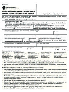ApplicAtion for EnrollmEnt/chAngE - dot.state.pa.us