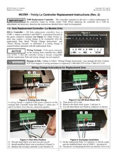 #83589 - Trinity Lx Controller Replacement Instructions ...