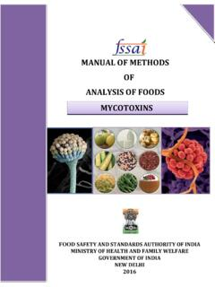 MANUAL OF METHODS OF ANALYSIS OF FOODS …