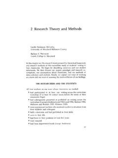 Research Theory and Methods - WAC Clearinghouse
