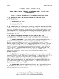 VOLUME 5 AIRMAN CERTIFICATION CHAPTER 5 TITLE 14 …