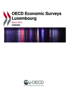 OECD Economic Surveys Luxembourg