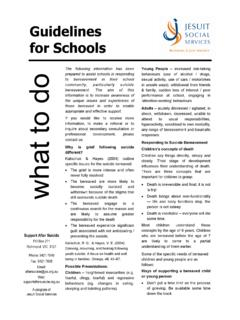 Guidelines for Schools - Support After Suicide