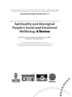 Spirituality and Aboriginal People's Social and Emotional ...