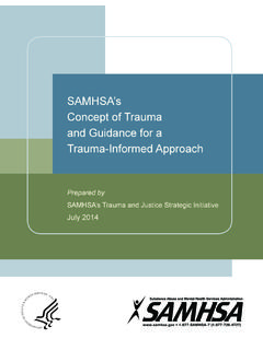 SAMHSA's Concept of Trauma and Guidance for a Trauma ...