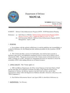 Department of Defense MANUAL