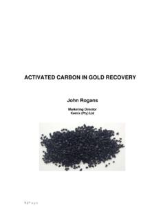 ACTIVATED CARBON IN GOLD RECOVERY - Kemix