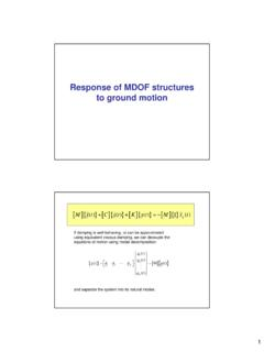 Response of MDOF structures to ground motion