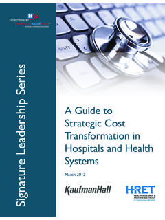 A Guide to Strategic Cost Transformation in Hospitals and ...