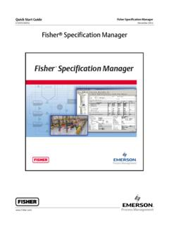 Fisher Specification Manager - Spartan Controls