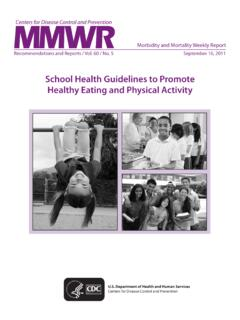 School Health Guidelines to Promote Healthy Eating and ...