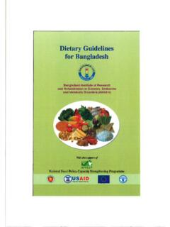 Dietary Guidelines for Bangladesh - Food and Agriculture ...
