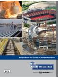 Design Manual and Catalog of Steel Deck Products