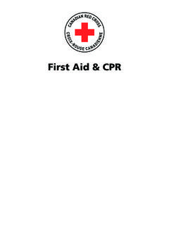 First Aid & CPR - Canadian Red Cross