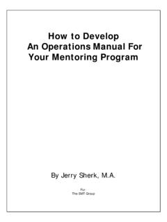 How to Develop An Operations Manual For Your Mentoring Program