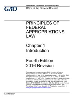 GAO-16-463SP, Principles of Federal Appropriations Law ...