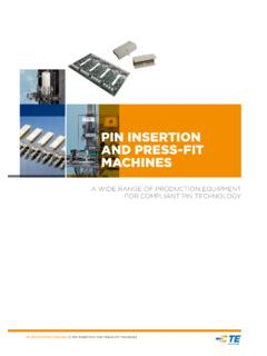 Pin insertion and Press-Fit Machines