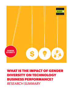 WHAT IS THE IMPACT OF GENDER DIVERSITY ON …