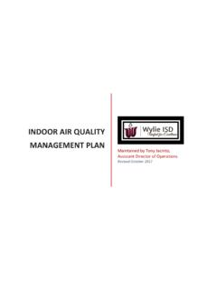 Indoor Air Quality Management Plan - Wylie ISD / Homepage
