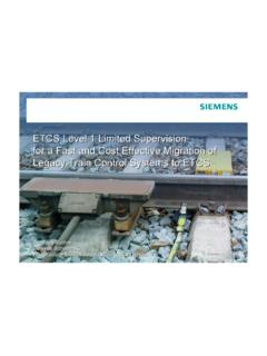 ETCS Level 1 Limited Supervision for a Fast and …