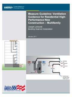 Measure Guideline: Ventilation Guidance for Residential ...