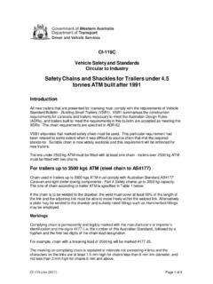 CI - 119 - Safety Chains for New trailers Under 4.5 Tonnes …