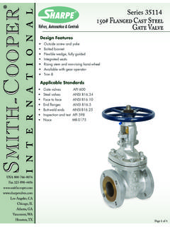 Series 35114 150# Flanged Cast Steel Gate Valve