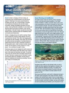 What Climate Change Means for Hawaii - US EPA
