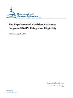 The Supplemental Nutrition Assistance Program (SNAP ...