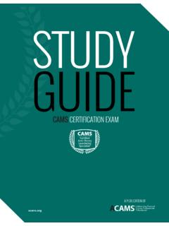 STUDY GUIDE - ACAMS
