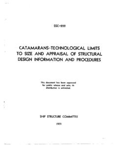 CATAMARANS-TECHNOLOGICAL LIMITS TO SIZE AND …