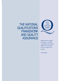 The NQF and Quality Assurance