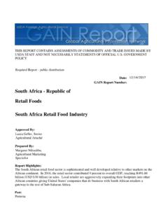 South Africa - Republic of Retail Foods South Africa ...