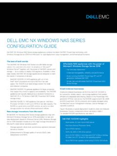 DELL EMC NX WINDOWS NAS SERIES CONFIGURATION GUIDE