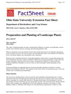Ohio State University Extension Fact Sheet - The …
