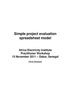 Simple project evaluation spreadsheet model - World Bank