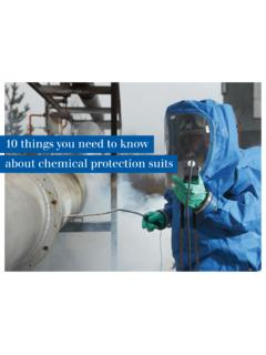 10 things you need to know about chemical protection suits