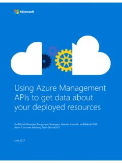 Using Azure Management APIs to get data about …