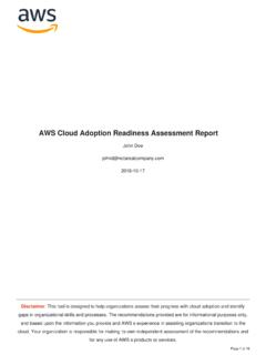 AWS Cloud Adoption Readiness Assessment Report