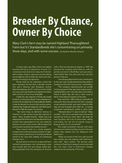 Breeder By Chance, Owner By Choice - …