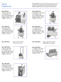 Sil-Air Sil -Air Compressors Compressors - Silent Aire