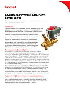 Advantages of Pressure Independent Control Valves