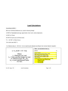 Load Calculations - About people.tamu.edu