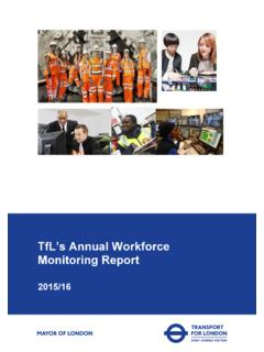 TfL's 2015/16 Annual Workforce Monitoring Report