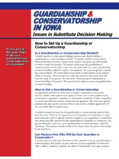 GUARDIANSHIP & CONSERVATORSHIP IN IOWA