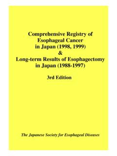 Comprehensive Registry of Esophageal Cancer in …