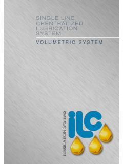 SINGLE LINE CRENTRALIZED LUBRICATION SYSTEM - ILC