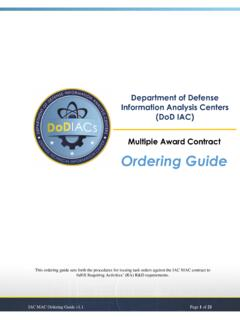 Department of Defense Information Analysis Centers (DoD ...