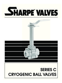 SERIES C CRYOGENIC BALL VALVES