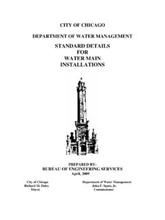 STANDARD DETAILS FOR WATER MAIN INSTALLATIONS